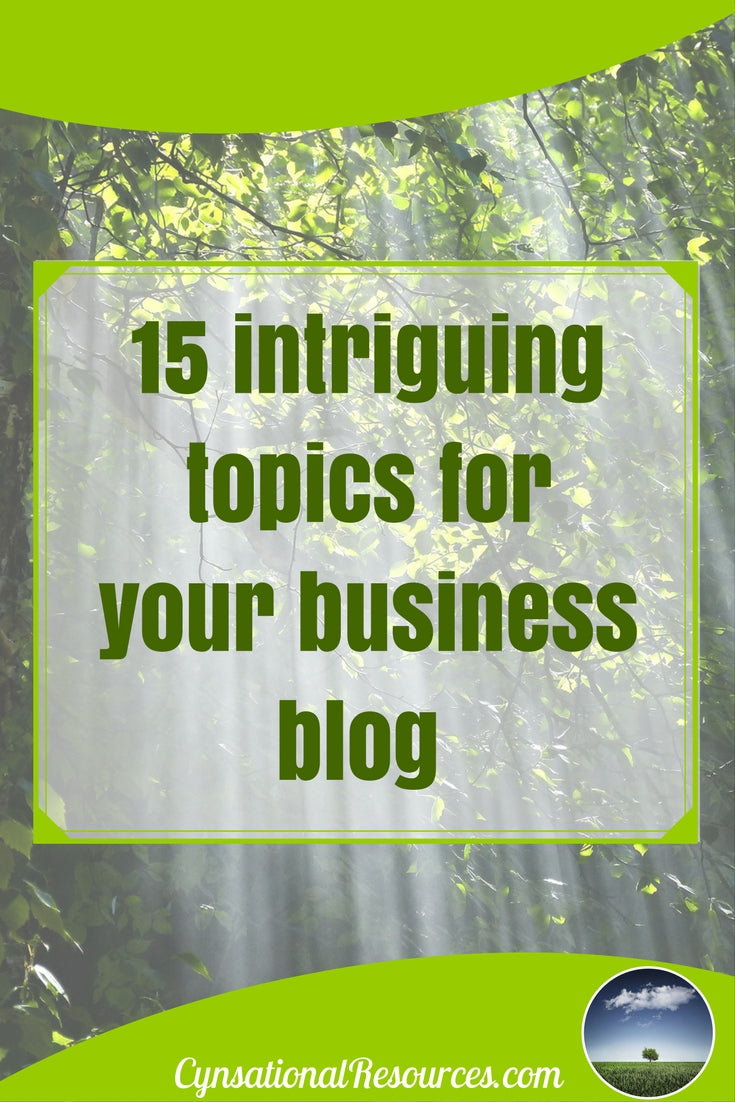 15Topics for your Business Blog