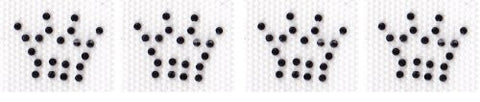 4 mini crowns Iron On Hot Fix Transfer Rhinestone -- Black