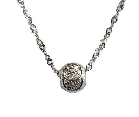 @Fedol 925 Sterling Silver Lucky Bead Transporter Necklace, 8mm Diameter, 45cm Chain