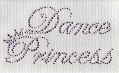Dance Princess Iron on Hot Fix Transfer Rhinestone -- Lt. Pink