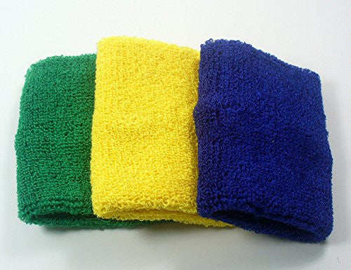 @Fedol 3 Pairs Women's/Girl's Cotton Sweatband Wristbands. 6 Counts.