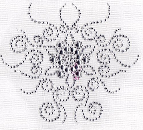 Neckline Iron On Hot Fix Rhinestone Transfer -- Clear