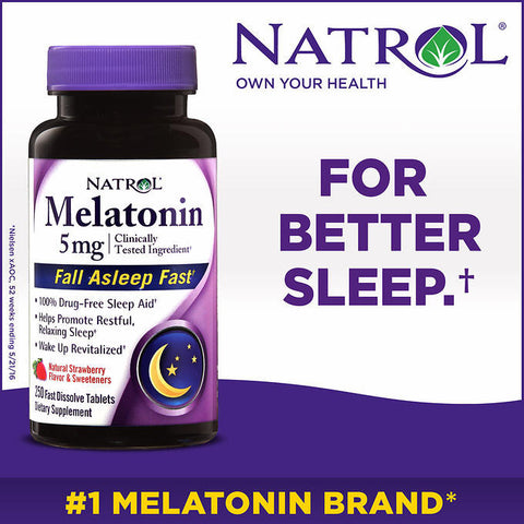 Natrol Melatonin 5 mg, 250 Fast Dissolve Tablets