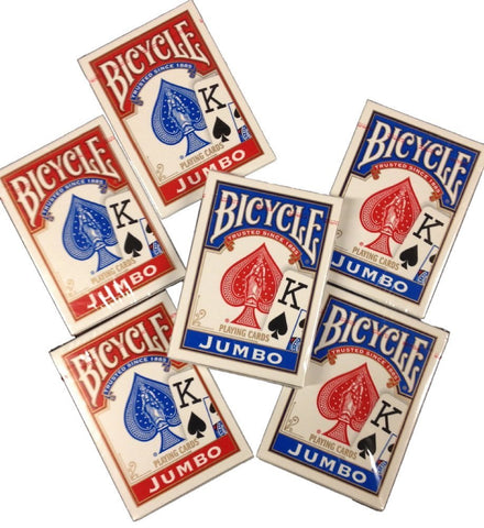 6 Decks Bicycle Poker Playing Card , Player's Pack, Poker, Standard Faces, Rider Back