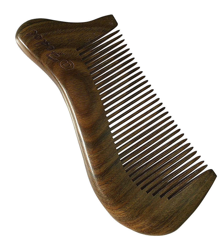 @Fedol Aromatic Green Sandalwood Comb. Anti Static Wooden Comb