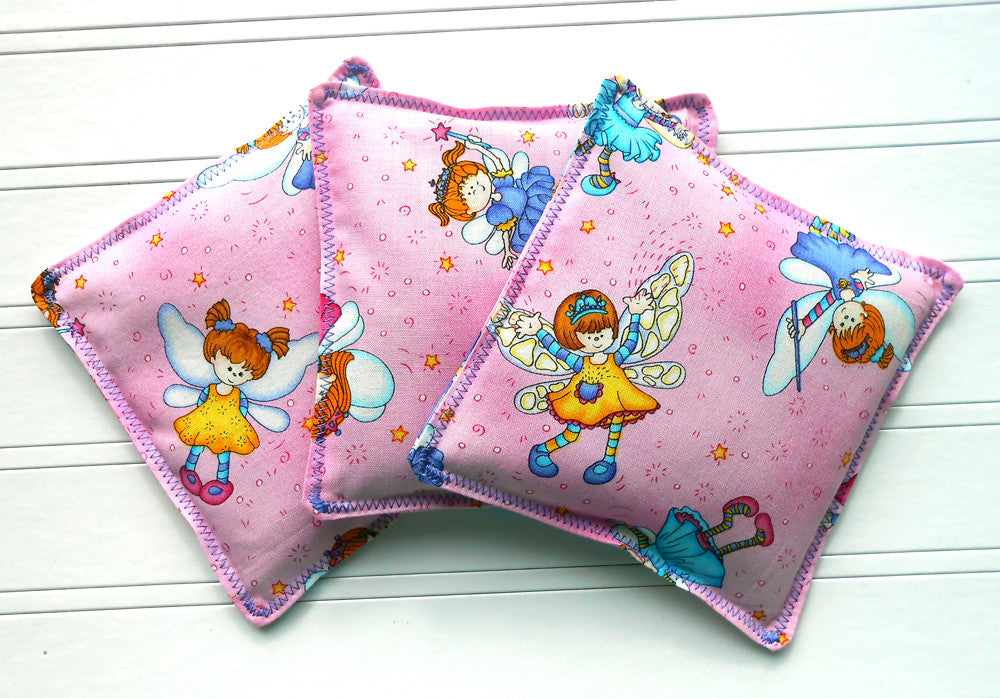 Fairy Princess: Flax Seed Hot/Cold Pack | Microwaveable Heating Pad and Ice Pack - Sew Colorful Designs