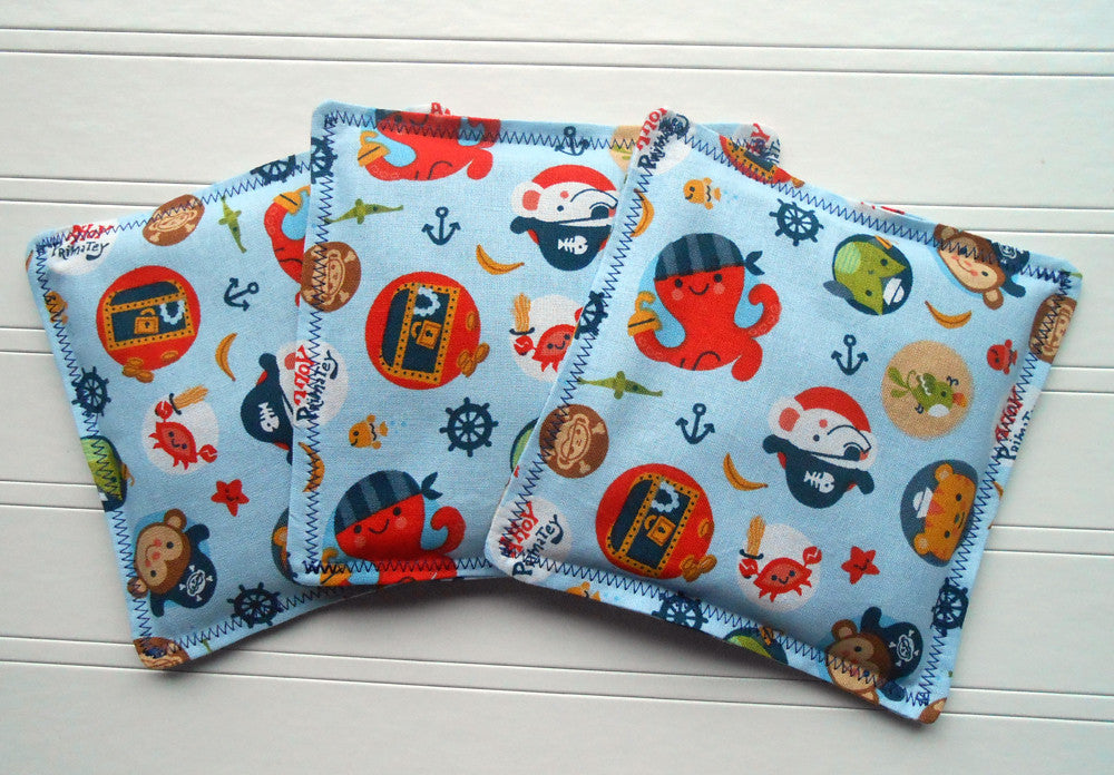 Ahoy Matey: Flax Seed Hot/Cold Pack | Microwaveable Heating Pad and Ice Pack - SALE - Sew Colorful Designs