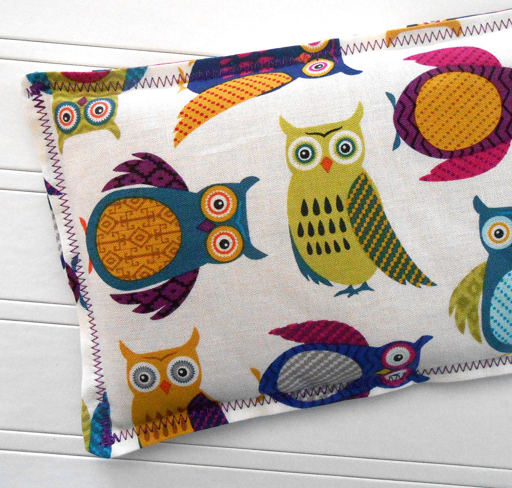 Hooty: Flax Seed Hot/Cold Pack | Microwavable Heating Pad and Ice Pack - Sew Colorful Designs