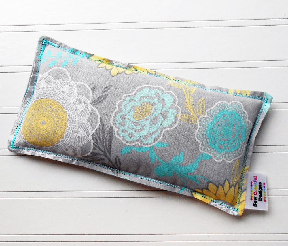 Lacey: Flax Seed Hot / Cold Pack| Microwavable Heating Pad and Ice Pack - Sew Colorful Designs