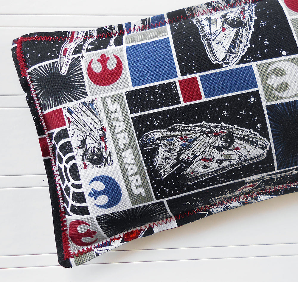 Star Wars: Flax Seed Hot/Cold Pack | Microwavable Heating Pad and Ice Pack - Sew Colorful Designs