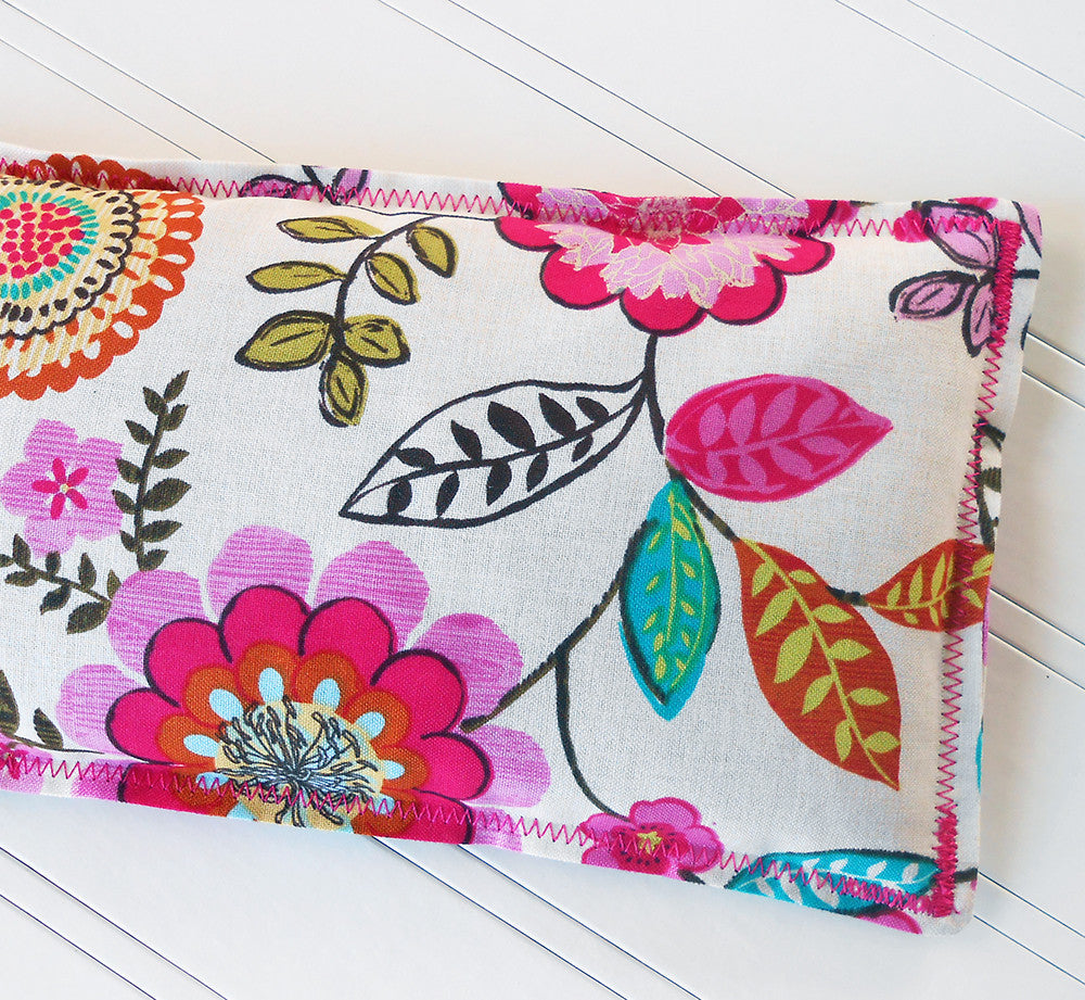 Calista: Flax Seed Hot/Cold Pack | Microwavable Heating Pad and Ice Pack - Sew Colorful Designs