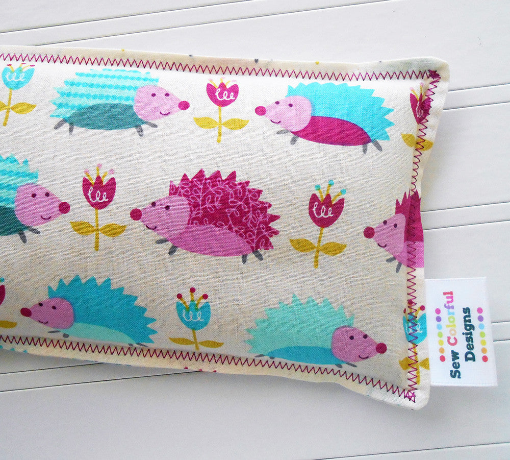 Happy Hedgehogs: Flax Seed Hot/Cold Pack | Microwavable Heating Pad and Ice Pack - Sew Colorful Designs