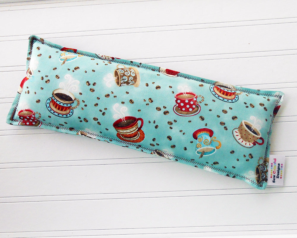 Coffee House: Flax Seed Hot/Cold Pack | Microwavable Heating Pad and Ice Pack - Sew Colorful Designs