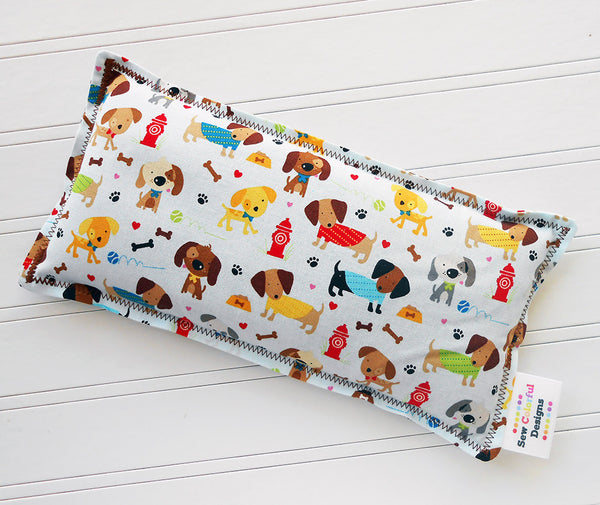 Bark Park: Flax Seed Hot / Cold Pack | Microwavable Heating Pad and Ice Pack - Sew Colorful Designs
