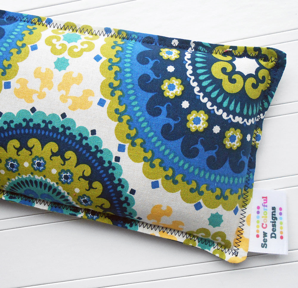 Nancy: Flax Seed Hot/Cold Pack | Microwavable Heating Pad and Ice Pack - SALE - Sew Colorful Designs