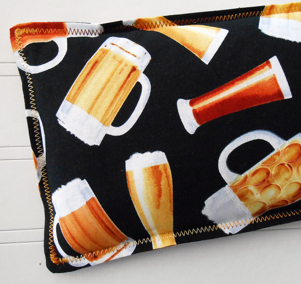 Happy Hour: Flax Seed Hot/Cold Pack | Microwavable Heating Pad and Ice Pack - Sew Colorful Designs