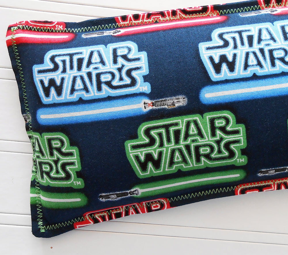 Star Wars Sabers: Flax Seed Hot/Cold Pack | Microwavable Heating Pad and Ice Pack - Sew Colorful Designs