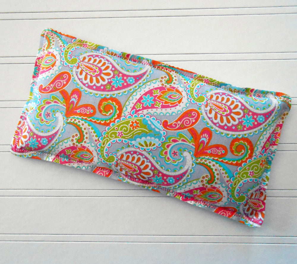 Bahama Mama: Flax Seed Hot / Cold Pack | Microwavable Heating Pad and Ice Pack - Sew Colorful Designs