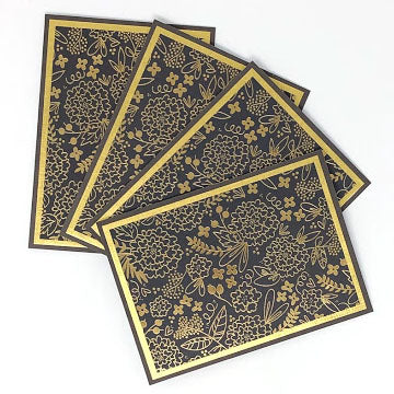 Glam Garden: Blank Notecard Set of 4 Cards with Matching Embellished Envelopes