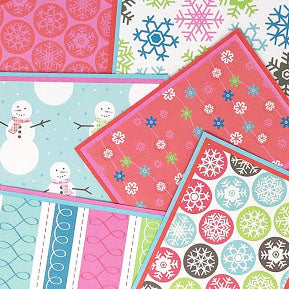 Winter Sweetheart: Blank Notecard Set of 6 Different Cards with Matching Embellished Envelopes
