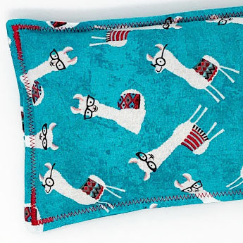 Nerdy Llamas: Flax Seed Hot & Cold Pack | Microwavable Heating Pad and Ice Pack