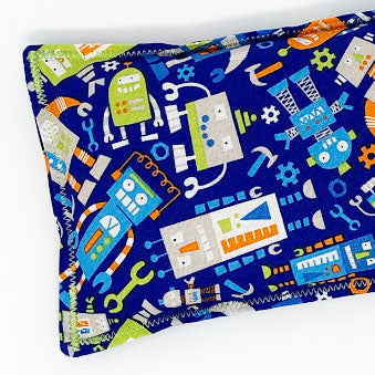 Robots: Flax Seed Hot / Cold Pack | Microwavable Heating Pad and Ice Pack