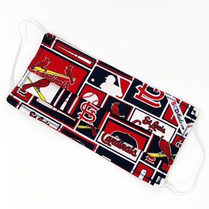 St Louis Cardinals:  Washable and Reusable Handmade Cloth Face Mask
