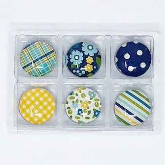 Sunny Day: Set of 6 Color Pop Dots Magnets