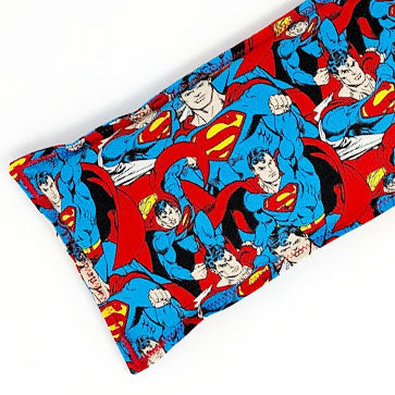 Superman: Flax Seed Hot & Cold Pack | Microwavable Heating Pad and Ice Pack
