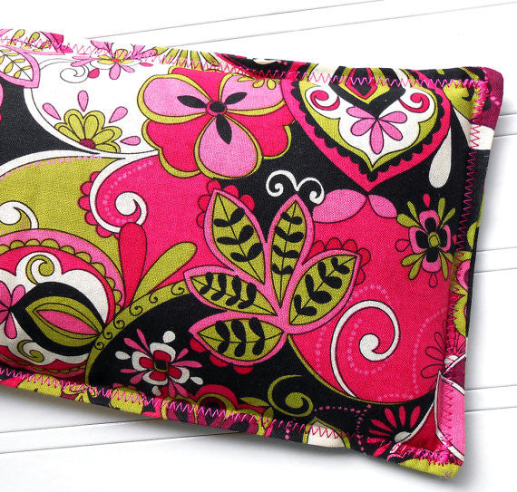 Midnight Romance: Flax Seed Hot/Cold Pack | Microwavable Heating Pad and Ice Pack - Sew Colorful Designs
