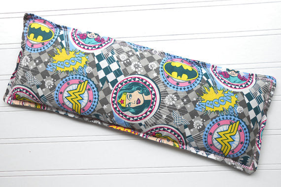 Super Girl: Flax Seed Hot/Cold Pack | Microwavable Heating Pad and Ice Pack - Sew Colorful Designs