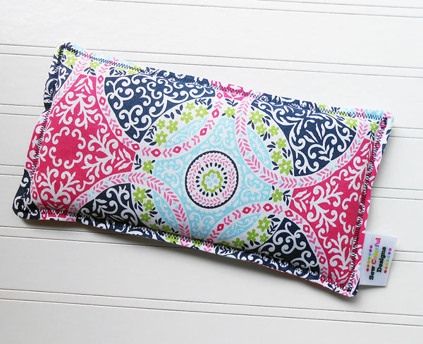 Miranda: Flax Seed Hot/Cold Pack | Microwavable Heating Pad and Ice Pack - Sew Colorful Designs