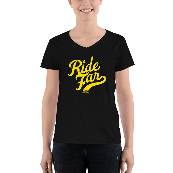 Ride Far - Women's Casual V-Neck Shirt