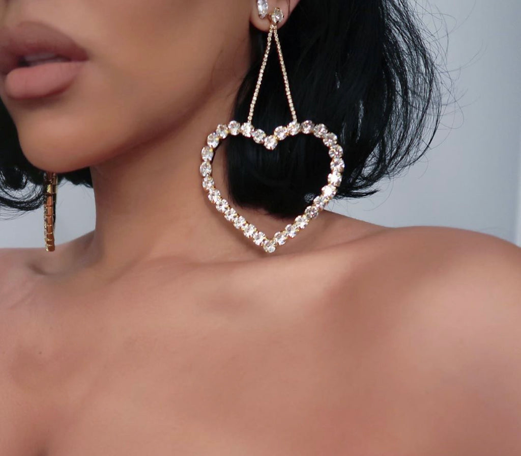 LE ROUGE HEART CRYSTAL EARRING