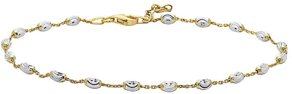 TWO TONE DAINTY ANKLET