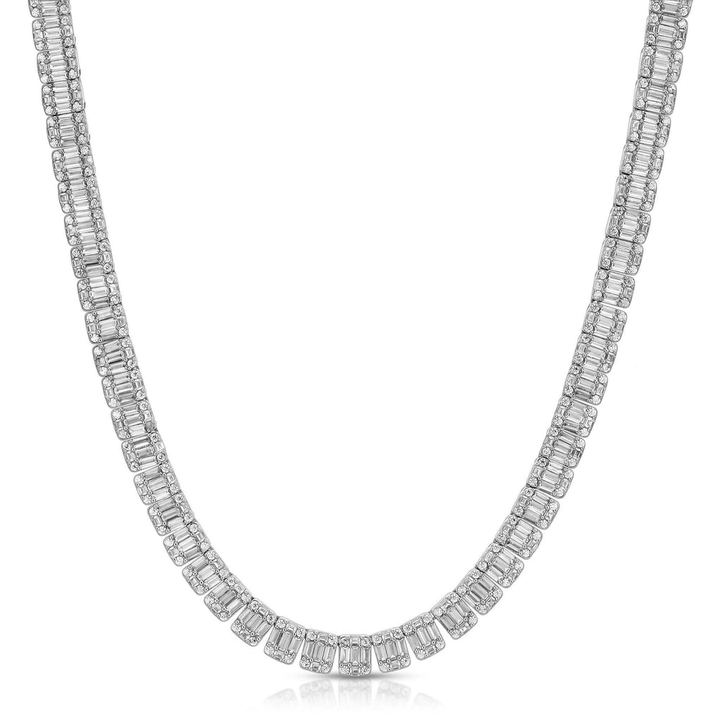 CRYSTAL BAGUETTE NECKLACE