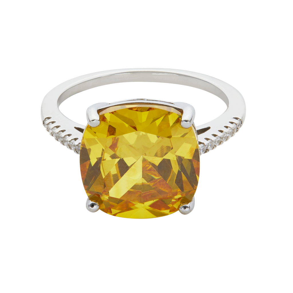 WIFE ME | CUSHION CUT CANARY YELLOW RING