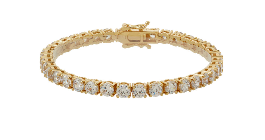 GOLD CRYSTAL TENNIS BRACELET