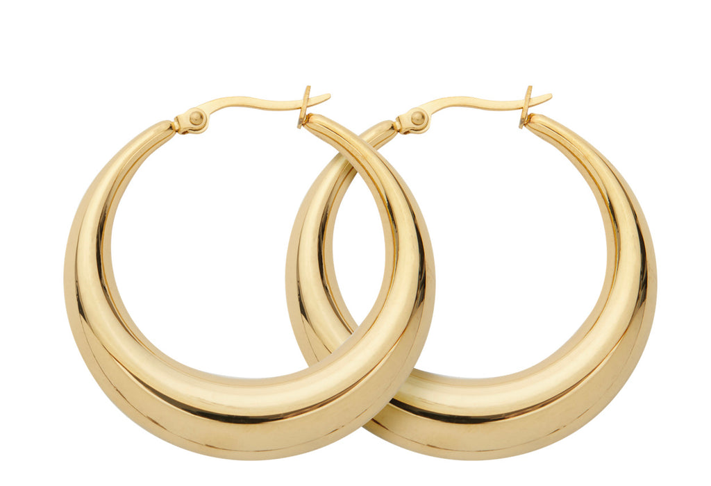 THIN VINTAGE GOLD HOOPS