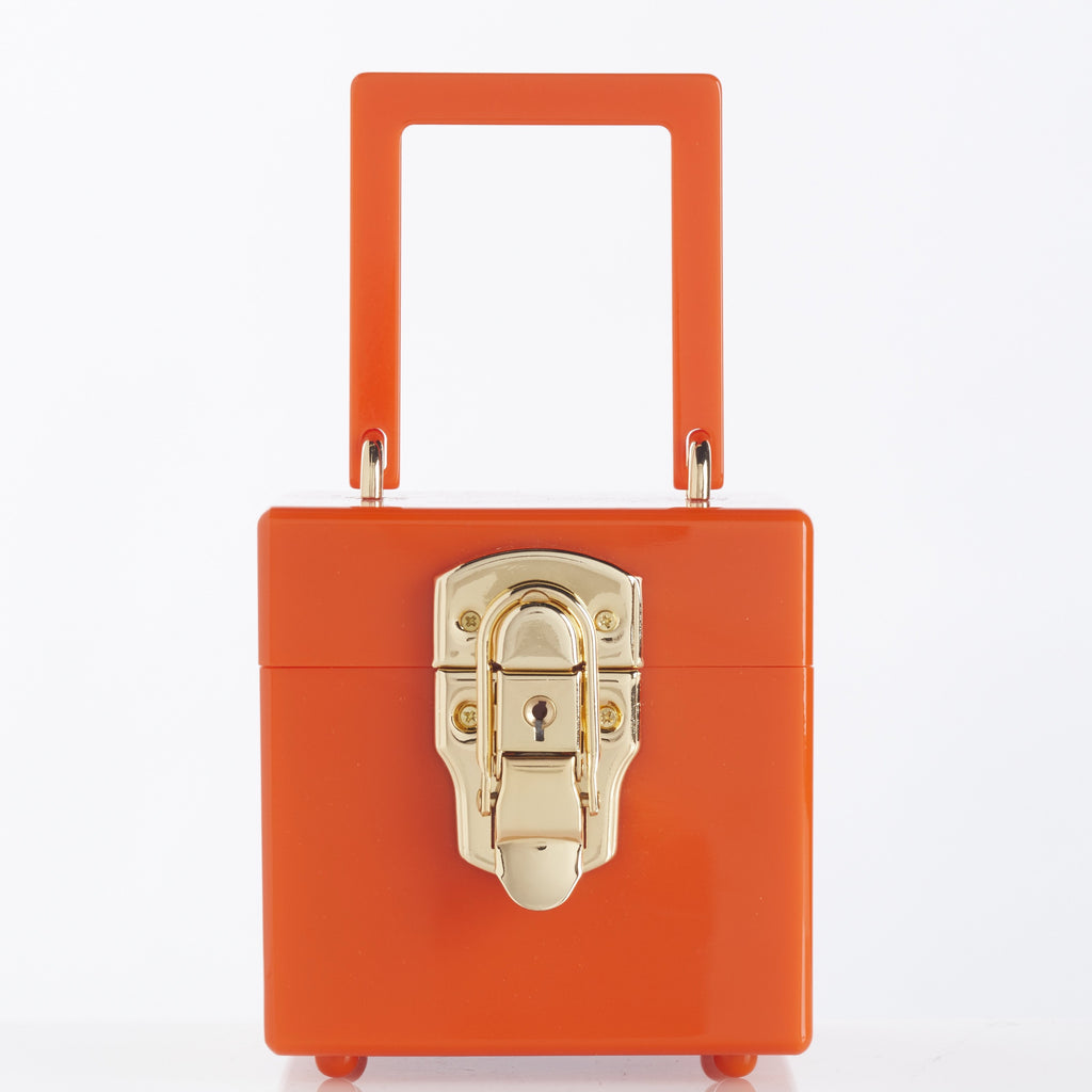 CAIRO BOX BAG | ORANGE