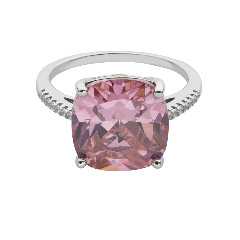 WIFE ME | CUSHION CUT PINK RING