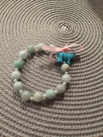 Light Green Rhino Charm Bracelet