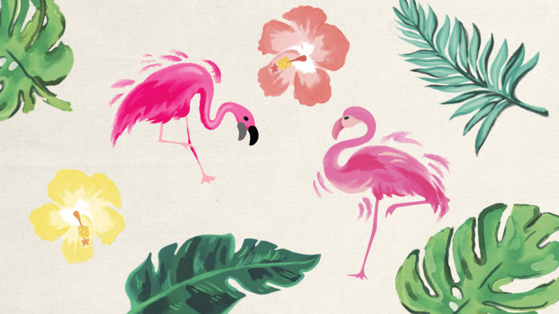 Let's Flamingle - Design details seen in this collection