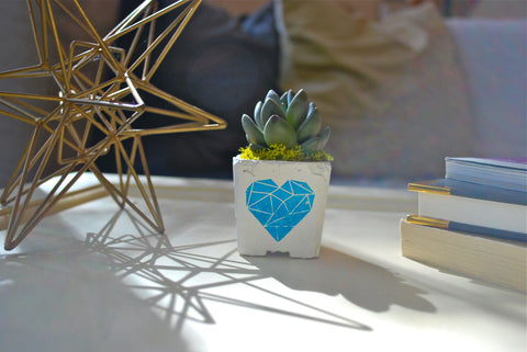 GEO HEART MAGNET PLANTER