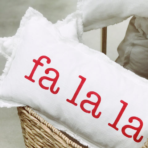 """FA LA LA"" Lumbar Pillow"