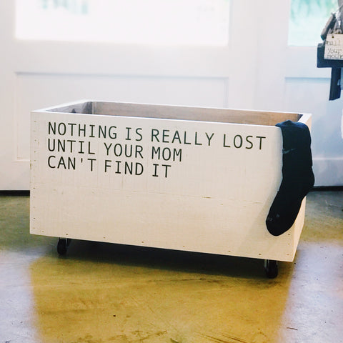 """Nothing Is Really Lost"" Rolling Crate"