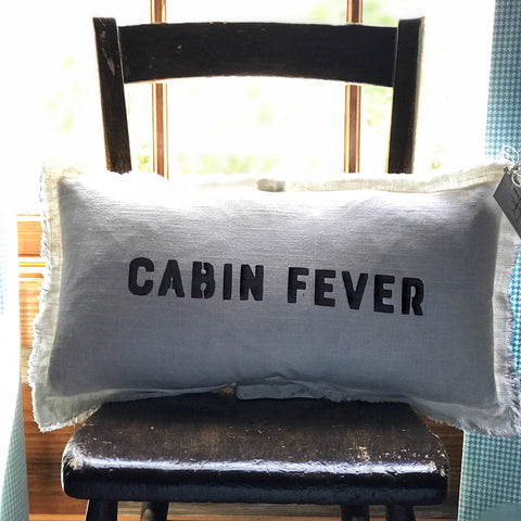 """Cabin Fever"" Lumbar Pillow"