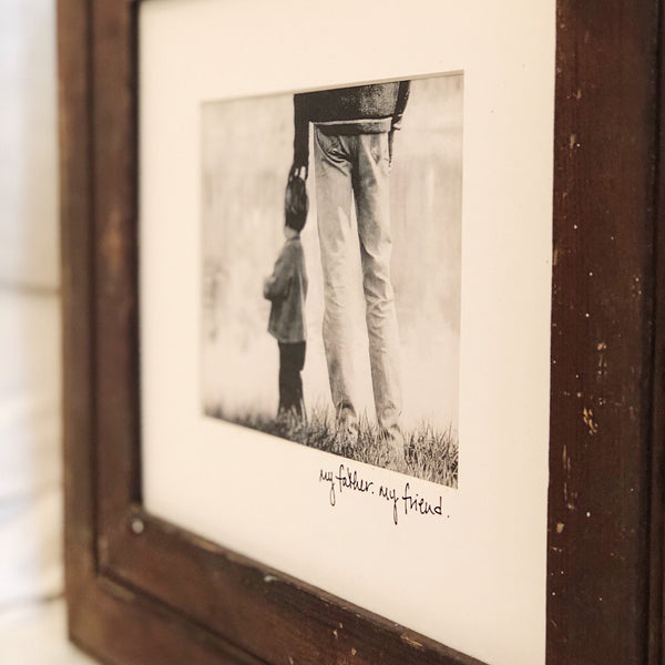 Bead Board Frame 8x10 with matted expression
