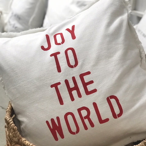 """Joy To The World"" Large Pillow"