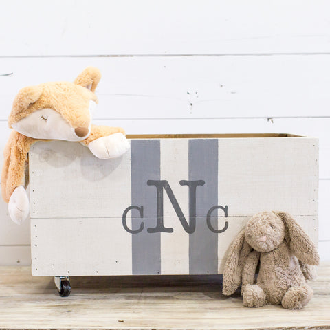 Custom Monogram Rolling Crate